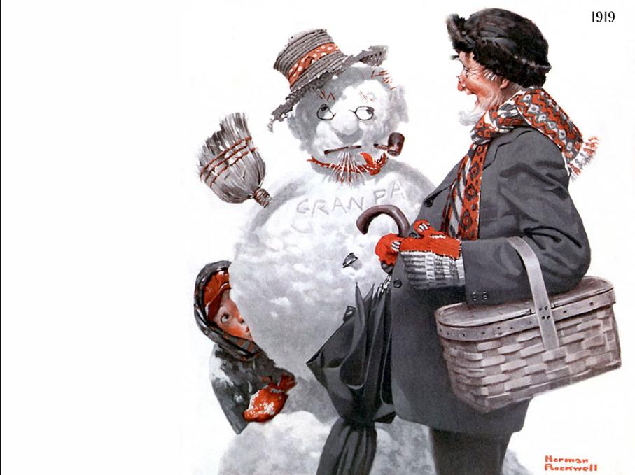 rockwell snowman