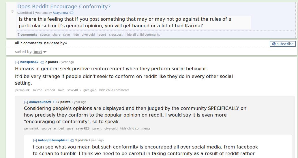 reddit-conformity