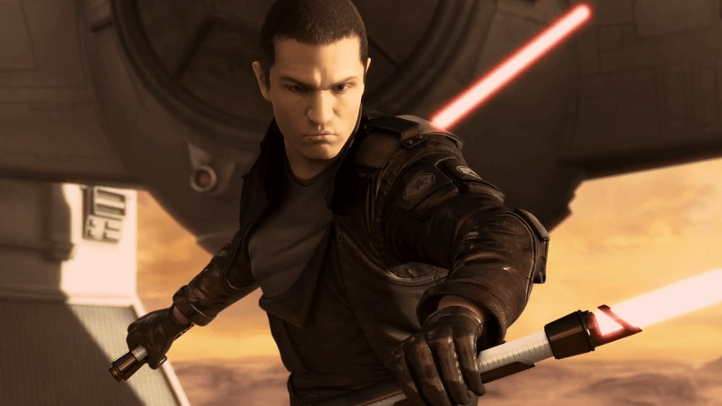 Starkiller's lightsabers from The Force Unleashed video game